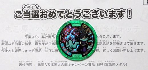 妖怪大合戦「オロチZメダル」が当選